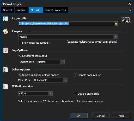MSBuild Project Action - FinalBuilder 8 - VSoft Technologies