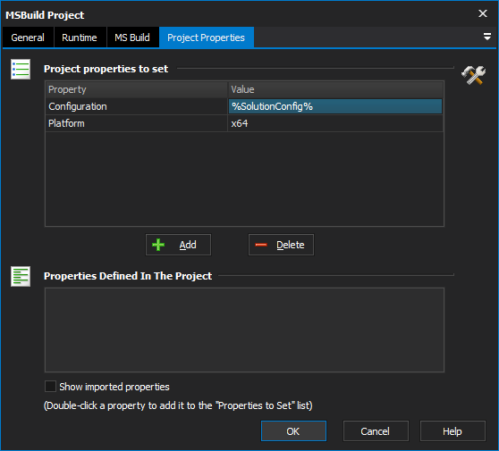 MSBuild Project Action - FinalBuilder 8 - VSoft Technologies