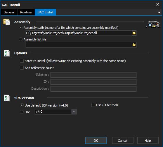 GAC Install [GACUTIL] Action - FinalBuilder 8 - VSoft