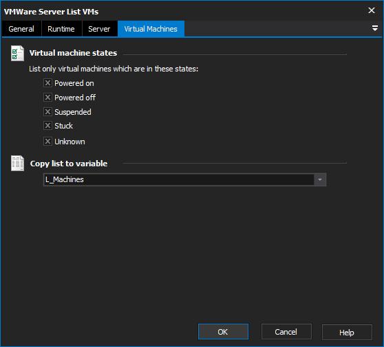 virtual machine software list