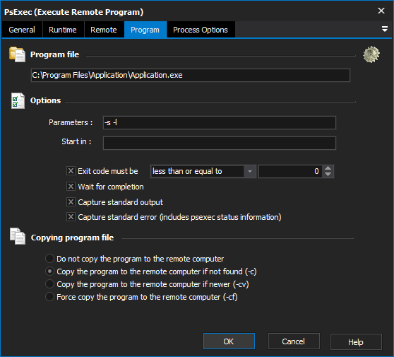 PsExec (Execute Remote Process) Action - FinalBuilder 8 - VSoft